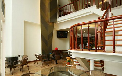 明湖采堤渡假館照片: 咖啡廳