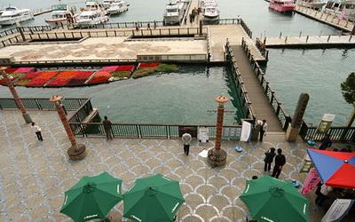 明湖采堤渡假館照片: 庭園