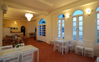 希臘小島照片: 客廳