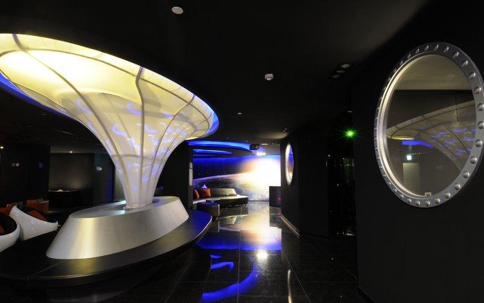 台北背包客棧太空艙交誼廳