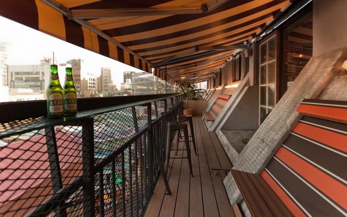 台北背包客棧西門窩陽台