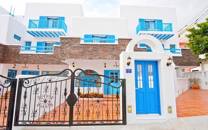 民宿主人親手打造的純希臘風格,讓你彷彿來到愛琴海上的地中海小島