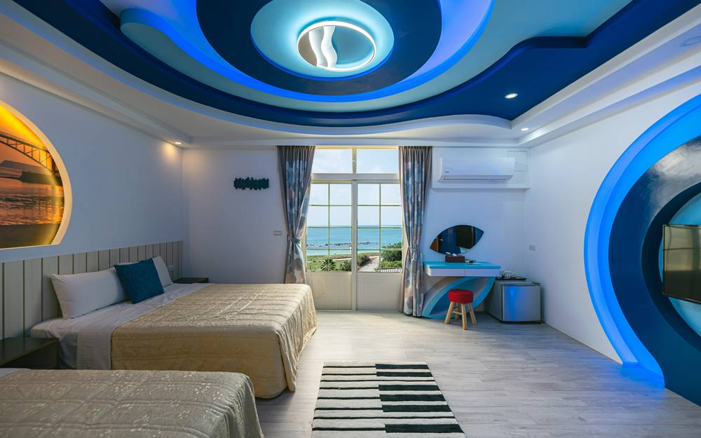 緊鄰澎湖最美的沙灘,山水沙灘旁的民宿。